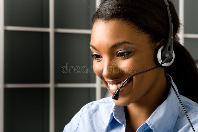 Rappresentante amichevole di servizio di assistenza al cliente fotografie stock