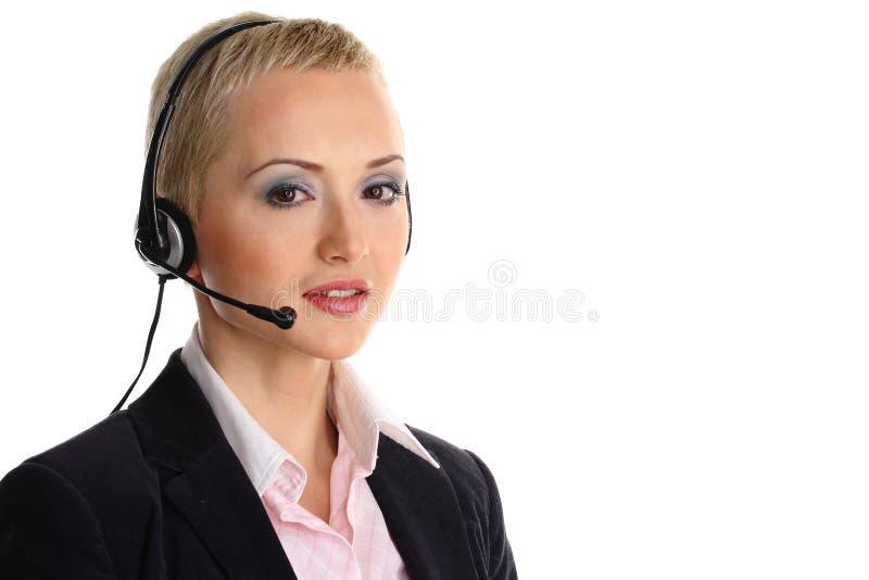 Rappresentante della call center immagine stock
