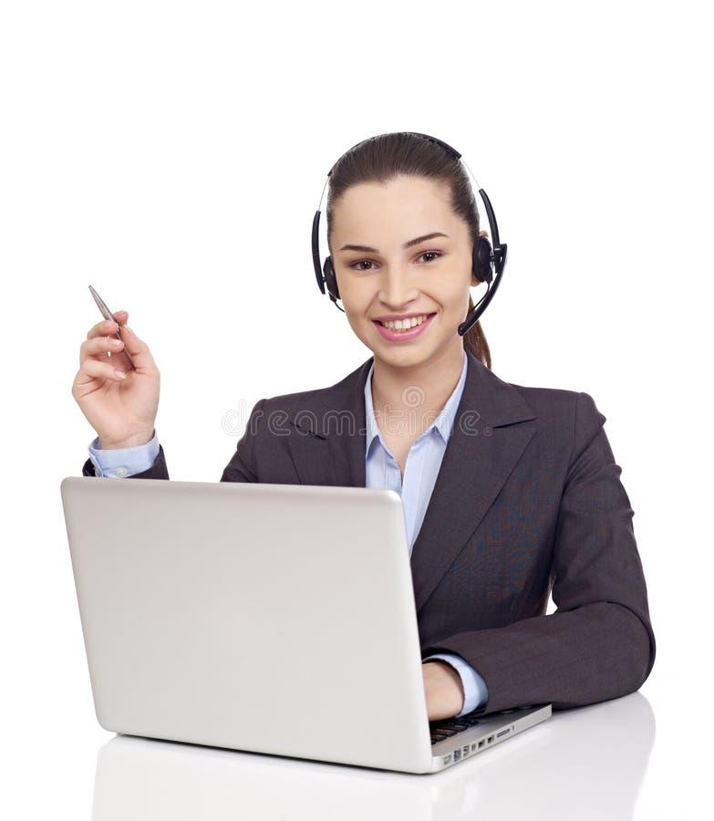 Rappresentante di servizio di assistenza al cliente immagine stock