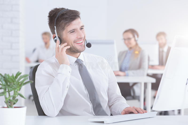 Rappresentante di servizio di assistenza al cliente immagini stock