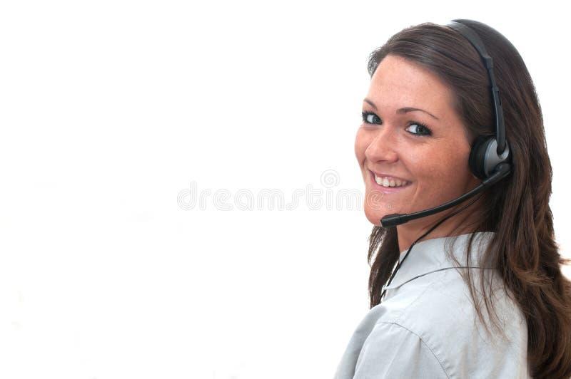 Rappresentante di servizio di assistenza al cliente fotografie stock