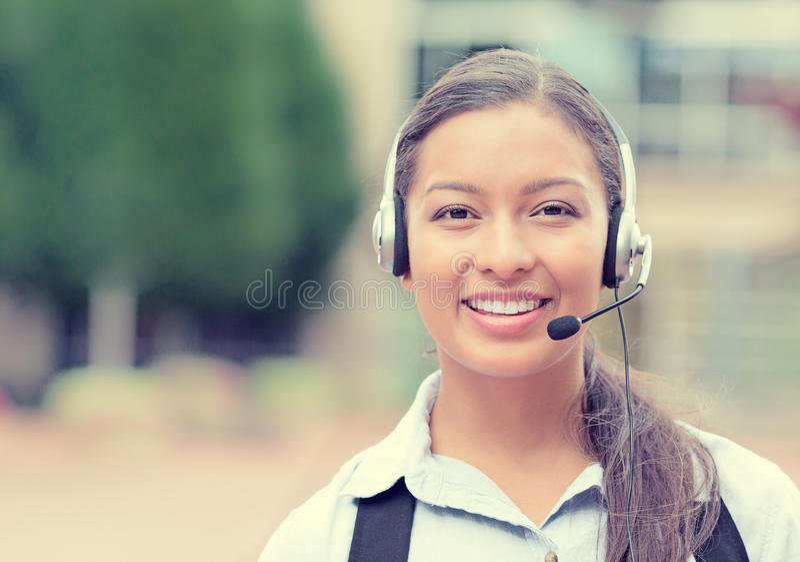 Rappresentante di servizio di assistenza al cliente, agente della call center fotografia stock libera da diritti