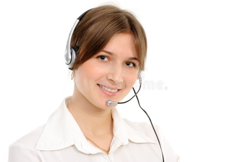 Rappresentante femminile di servizio di assistenza al cliente immagini stock libere da diritti