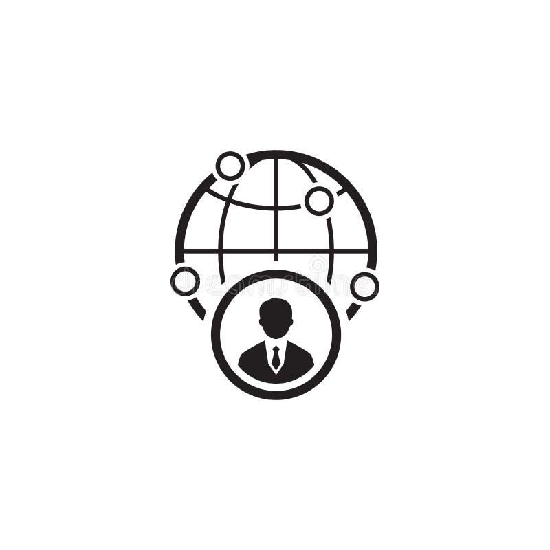 Rappresentante Icon di affari Progettazione piana royalty illustrazione gratis