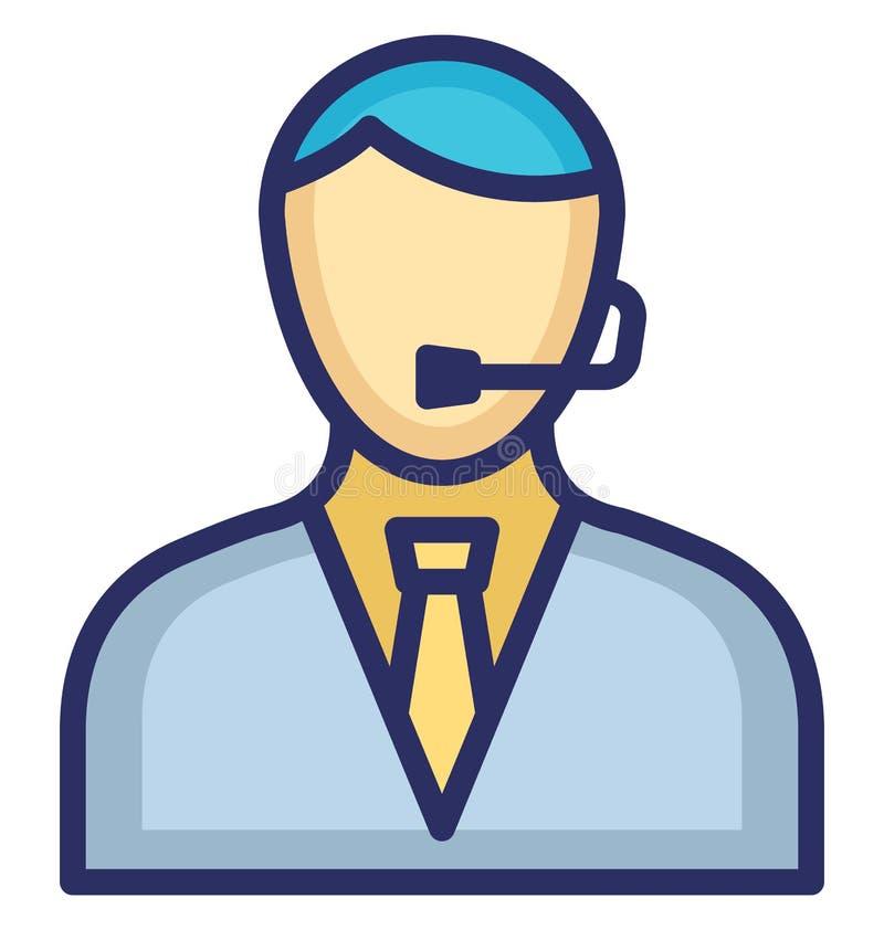 Rappresentante Vector Icon del cliente che può modificare o pubblicare facilmente illustrazione di stock