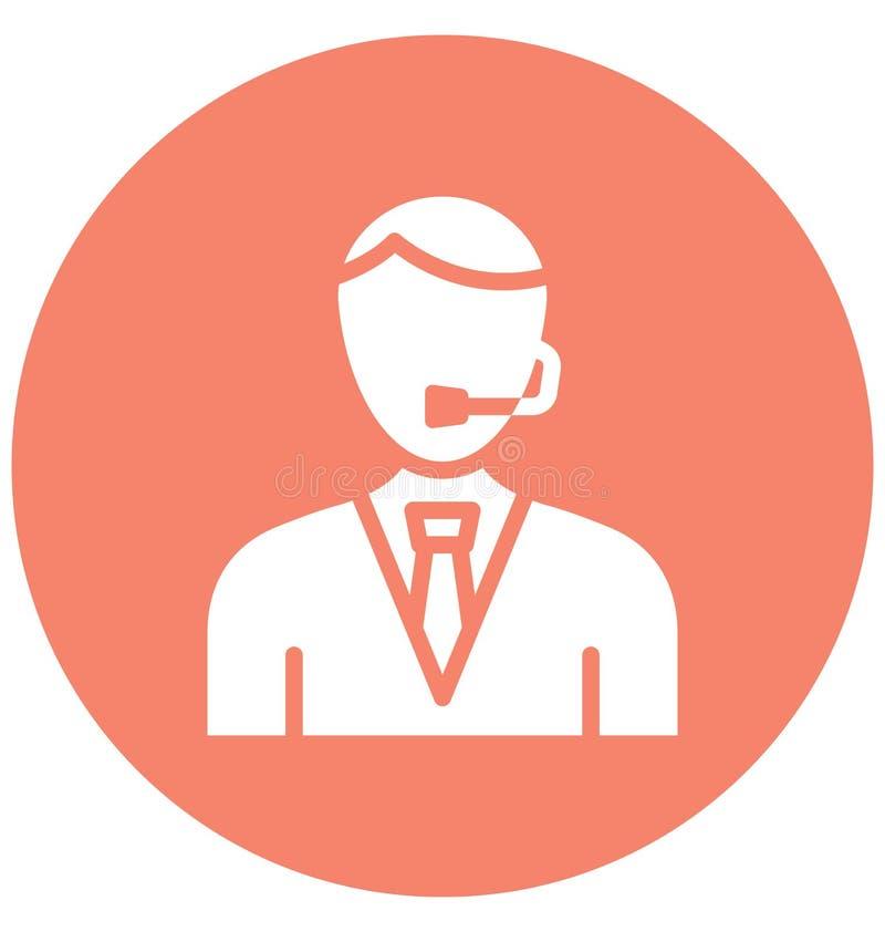 Rappresentante Vector Icon del cliente che può modificare o pubblicare facilmente illustrazione vettoriale