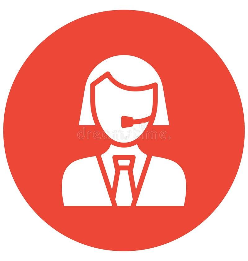 Rappresentante Vector Icon del cliente che può modificare o pubblicare facilmente il rappresentante Vector Icon del cliente che p illustrazione di stock