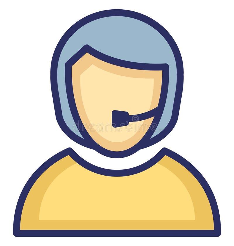 Rappresentante Vector Icon del cliente di Represen del cliente che può modificare facilmente l'icona otative di vettore che può m royalty illustrazione gratis