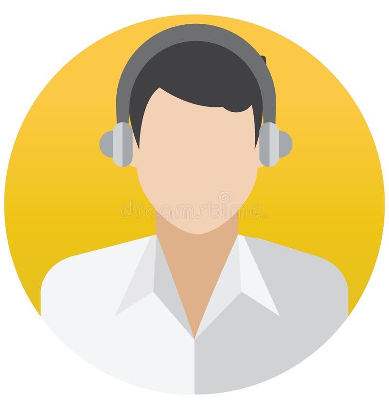 Rappresentante Vector Illustration Icon del cliente che può modificare o pubblicare facilmente illustrazione di stock