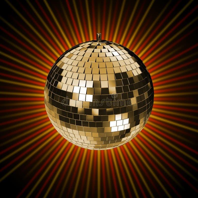rappresentazione 3d della sfera dello specchio della discoteca fotografia stock libera da diritti