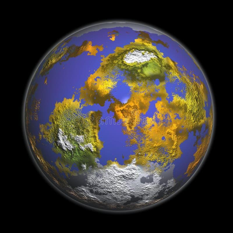 rappresentazione 3D della terra immagini stock libere da diritti