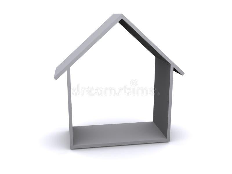 rappresentazione 3D di una casa illustrazione vettoriale