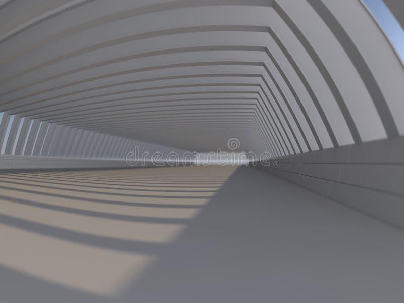 Rappresentazione bianca vuota dello spazio aperto 3D fotografia stock