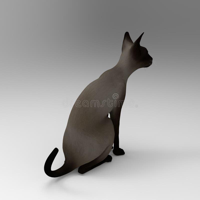 rappresentazione 3d del gatto creata usando uno strumento del miscelatore illustrazione vettoriale