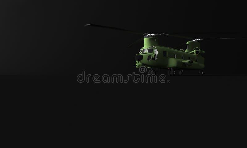 RAPPRESENTAZIONE 3D dell'ELICOTTERO di TRASPORTO illustrazione vettoriale