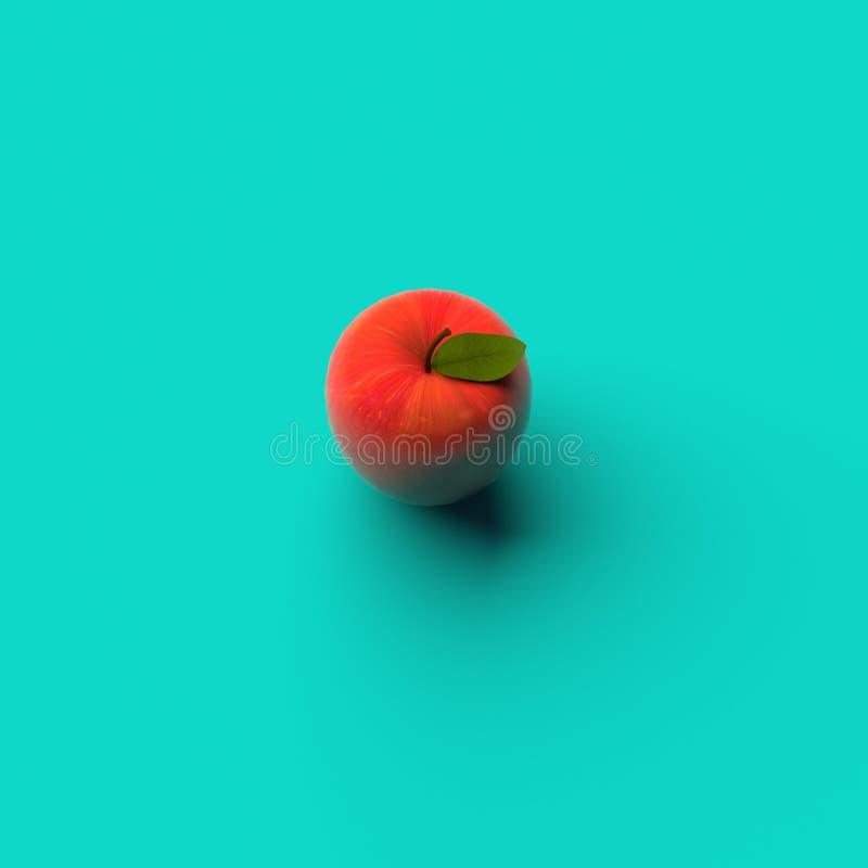 RAPPRESENTAZIONE 3D di APPLE illustrazione di stock