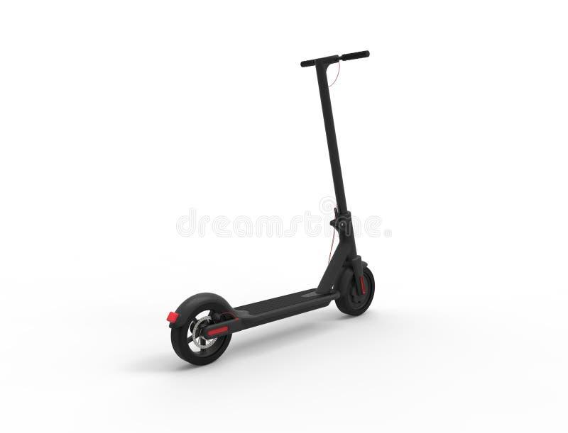rappresentazione 3D di un motorino elettrico di mobilit? isolato nel fondo bianco illustrazione di stock