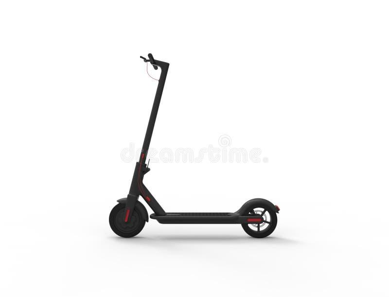 rappresentazione 3D di un motorino elettrico di mobilit? isolato nel fondo bianco royalty illustrazione gratis