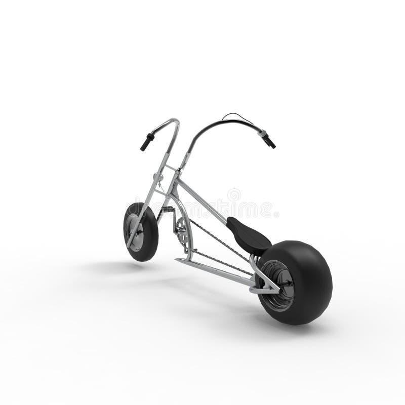 rappresentazione 3d di una bicicletta su un fondo isolato illustrazione di stock
