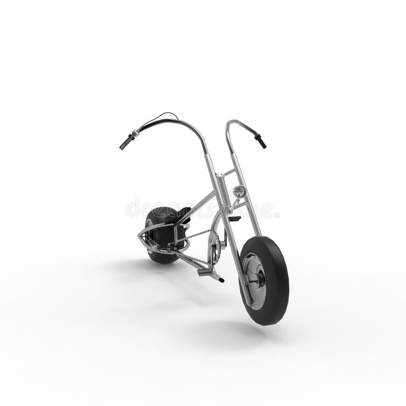 rappresentazione 3d di una bicicletta su un fondo isolato royalty illustrazione gratis