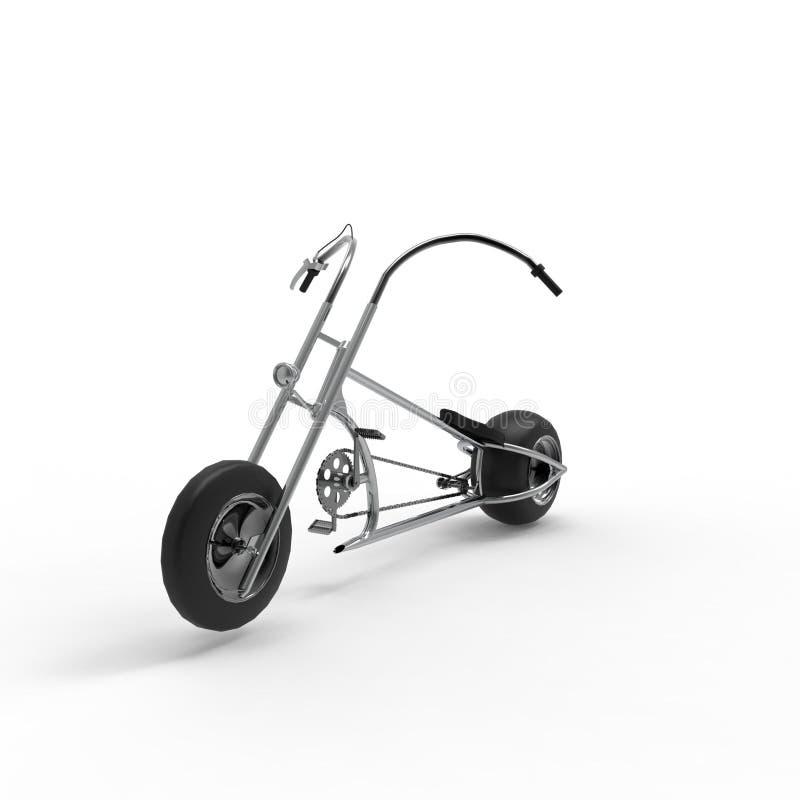rappresentazione 3d di una bicicletta su un fondo isolato illustrazione vettoriale