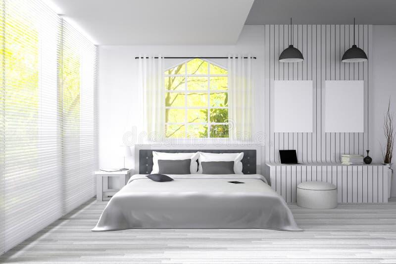 Rappresentazione 3d illustrazione di grande camera da for Grande layout di design della camera