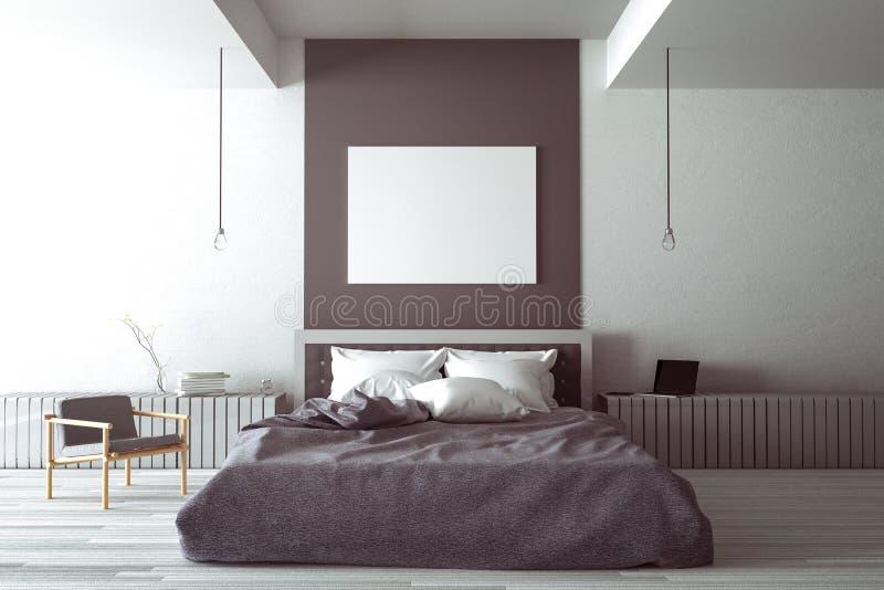 Rappresentazione 3d illustrazione di grande camera da - Colori camera da letto matrimoniale ...