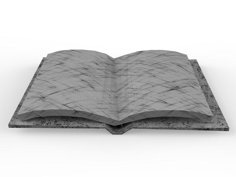 Rappresentazione del libro aperto 3D illustrazione di stock