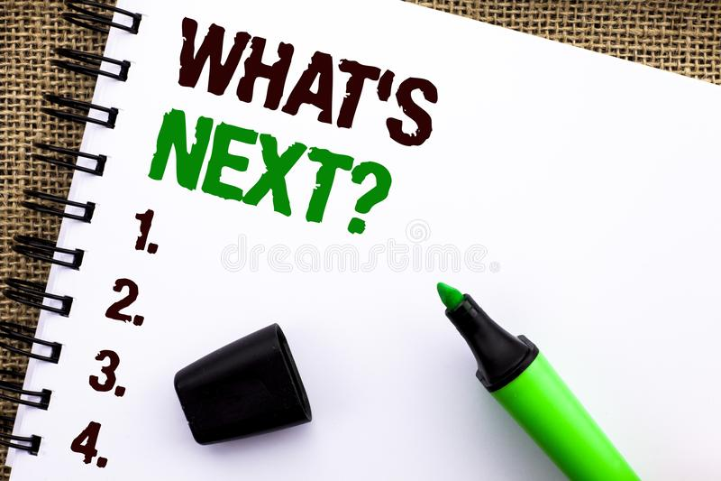 Rappresentazione del segno del testo che domanda seguente di s Foto concettuale che chiede ad immaginazione soluzione Choice ques immagine stock