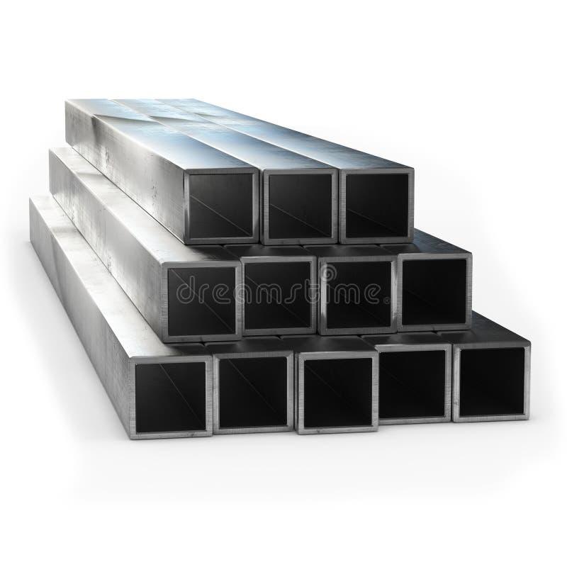 Rappresentazione del tubo 3d dell'acciaio inossidabile isolata illustrazione vettoriale
