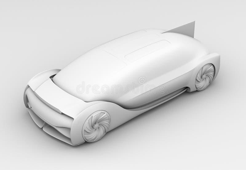 Rappresentazione dell'argilla dell'auto che determina esterno dell'automobile elettrica immagini stock libere da diritti