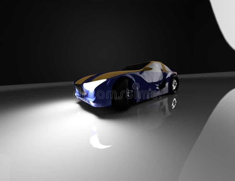 Rappresentazione dell'automobile di concetto illustrazione di stock