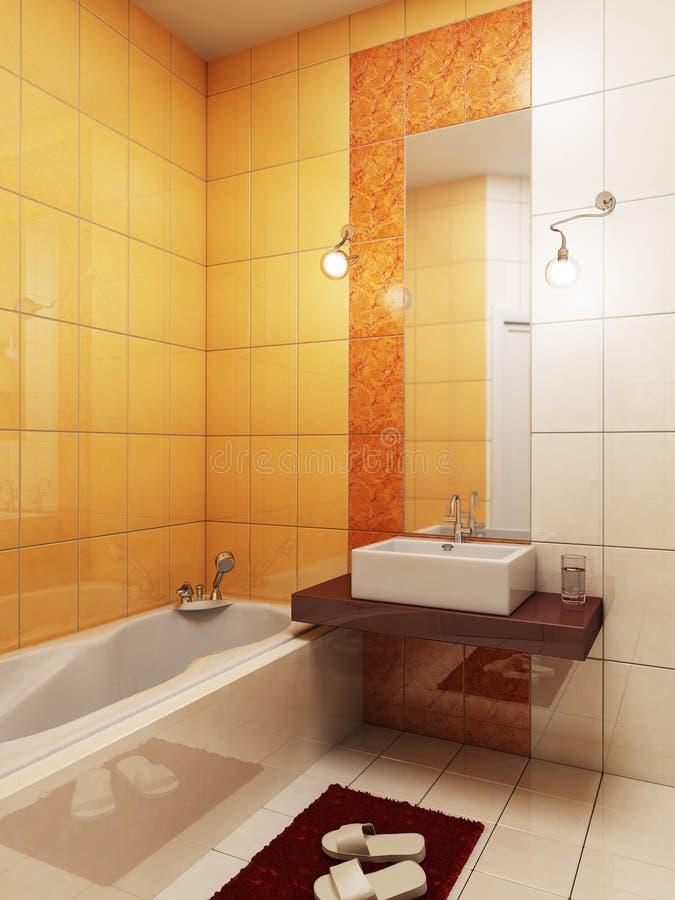 Rappresentazione della stanza da bagno 3d illustrazione di for Stanza da bagno