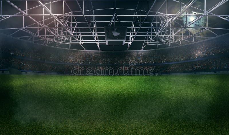 Rappresentazione dello stadio di calcio 3D di football americano fotografia stock