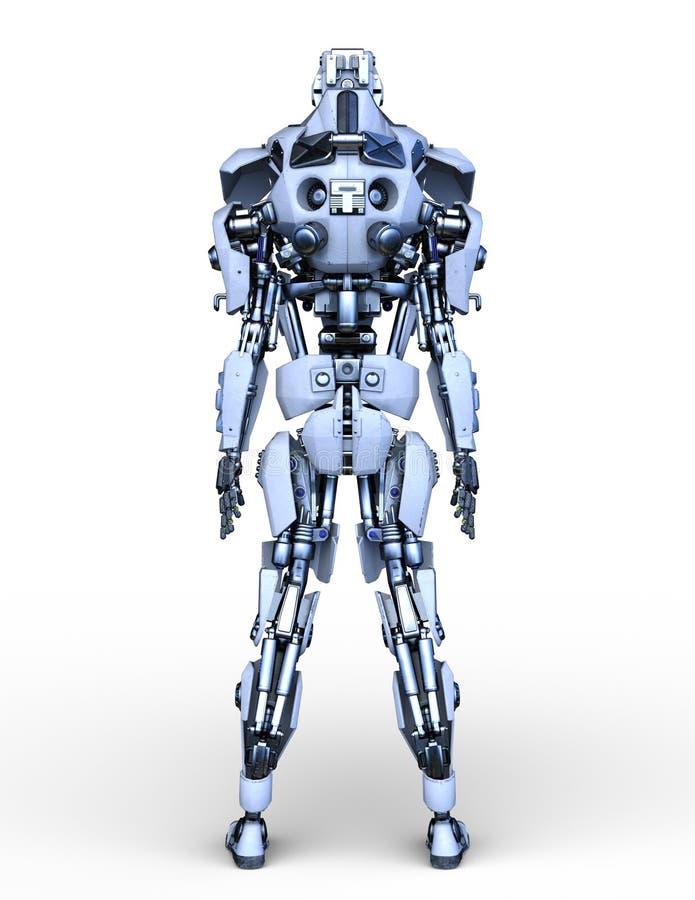 rappresentazione di 3D CG del robot illustrazione vettoriale