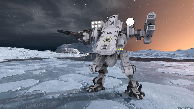 rappresentazione di 3D CG del robot royalty illustrazione gratis