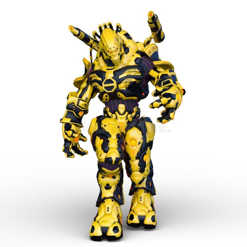 rappresentazione di 3D CG dell'umanoide illustrazione vettoriale