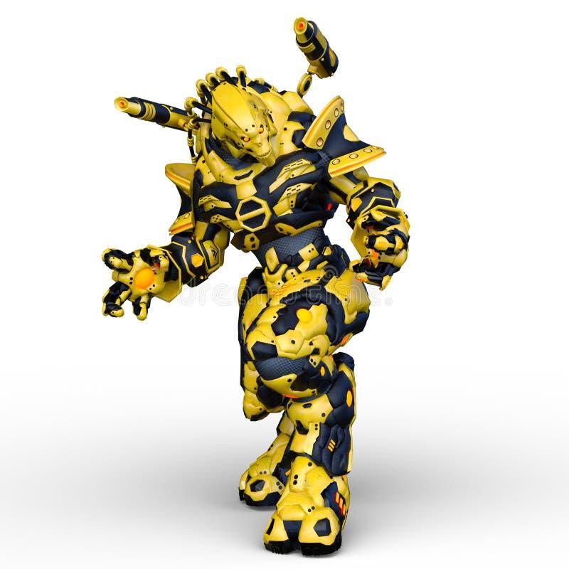 rappresentazione di 3D CG dell'umanoide royalty illustrazione gratis