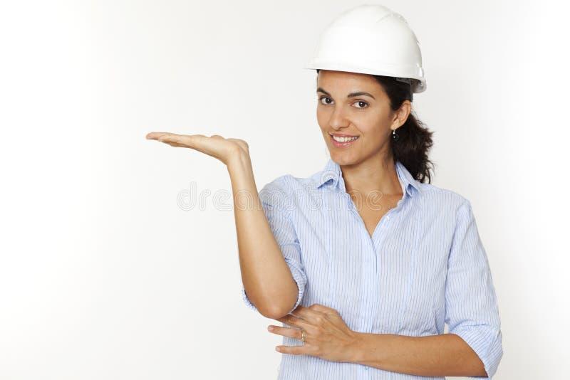 Rappresentazione femminile dell'architetto immagini stock