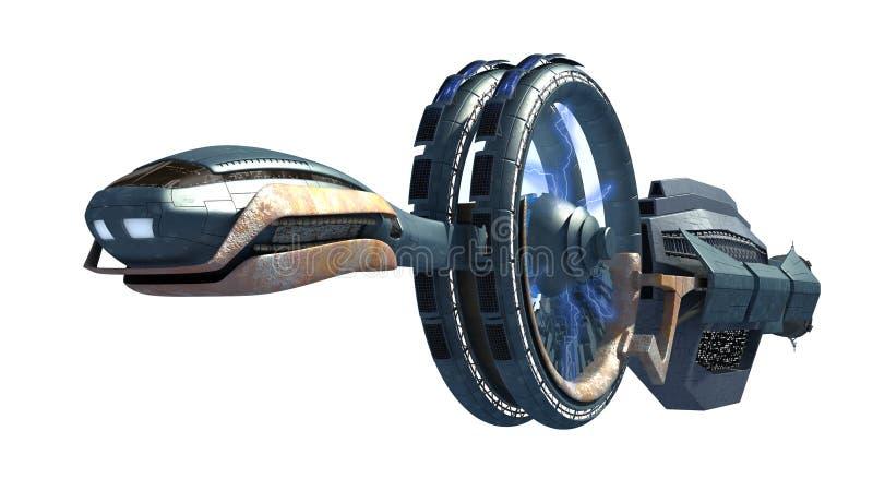 Rappresentazione futuristica del veicolo spaziale illustrazione di stock