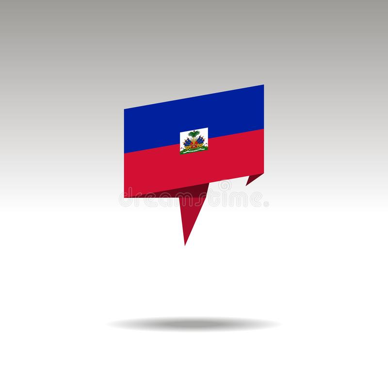 Rappresentazione grafica della designazione di posizione nello stile di origami con una bandiera HAITI su un fondo grigio royalty illustrazione gratis
