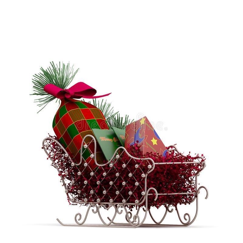 Rappresentazione isometrica di festa 3D di Natale illustrazione di stock