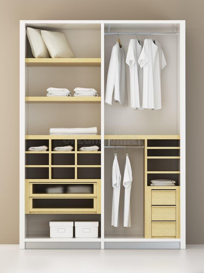 Rappresentazione moderna dell'armadio 3d illustrazione di stock