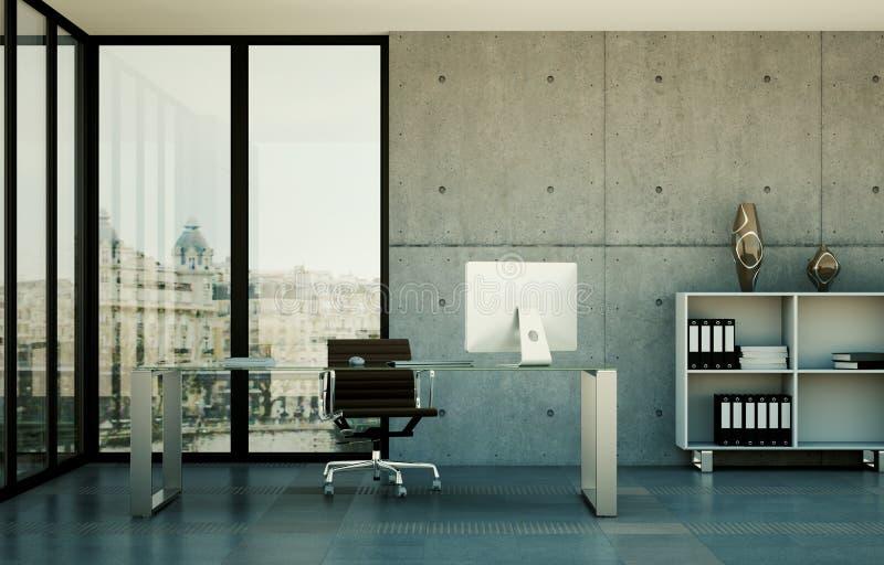 Rappresentazione moderna di interior design 3d del Ministero degli Interni illustrazione vettoriale