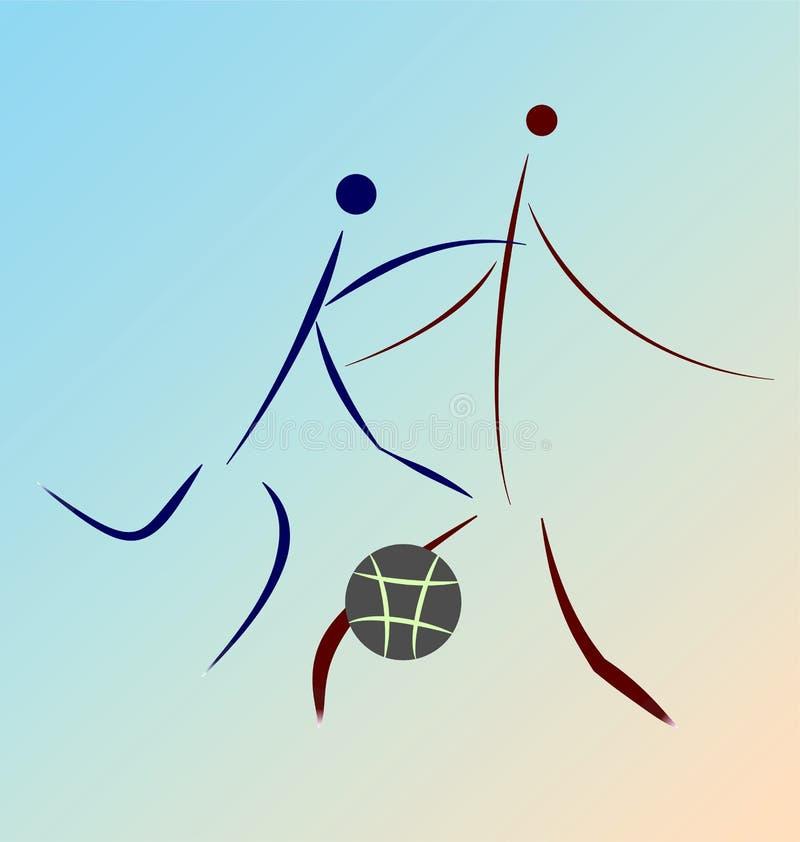 Rappresentazione semplificata grafica del gioco di pallacanestro royalty illustrazione gratis