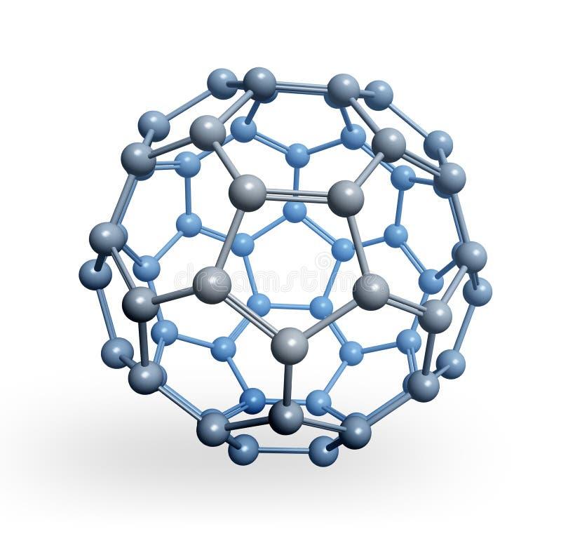 Rappresentazione sferica della molecola 3D illustrazione vettoriale