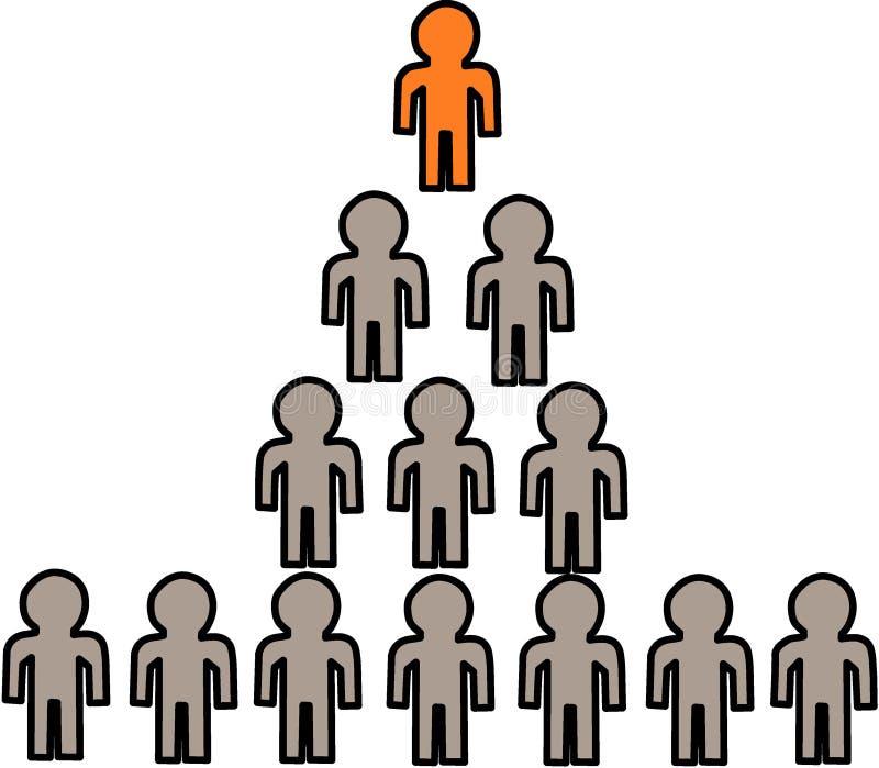 Rappresentazione simbolica dello schema di piramide di affari illustrazione vettoriale