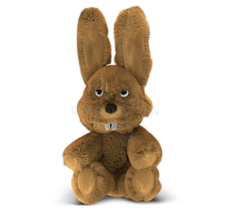 Rappresentazione sollecitata divertente infelice del coniglietto di pasqua 3d illustrazione di stock