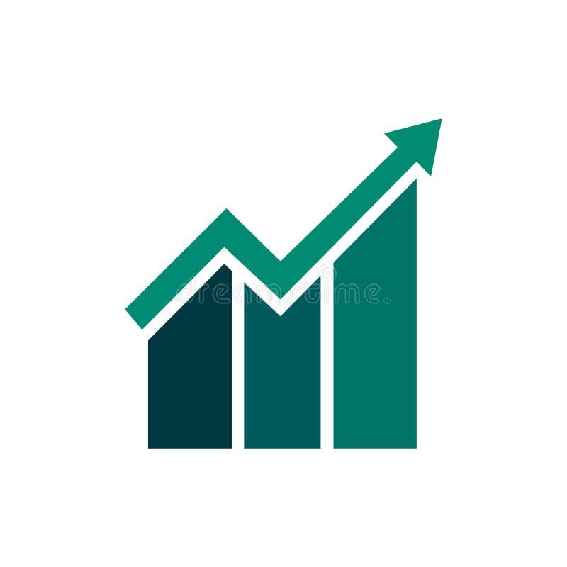 Rappresenti graficamente l'icona nello stile piano d'avanguardia isolata su fondo bianco Simbolo della barra del grafico per prog illustrazione vettoriale