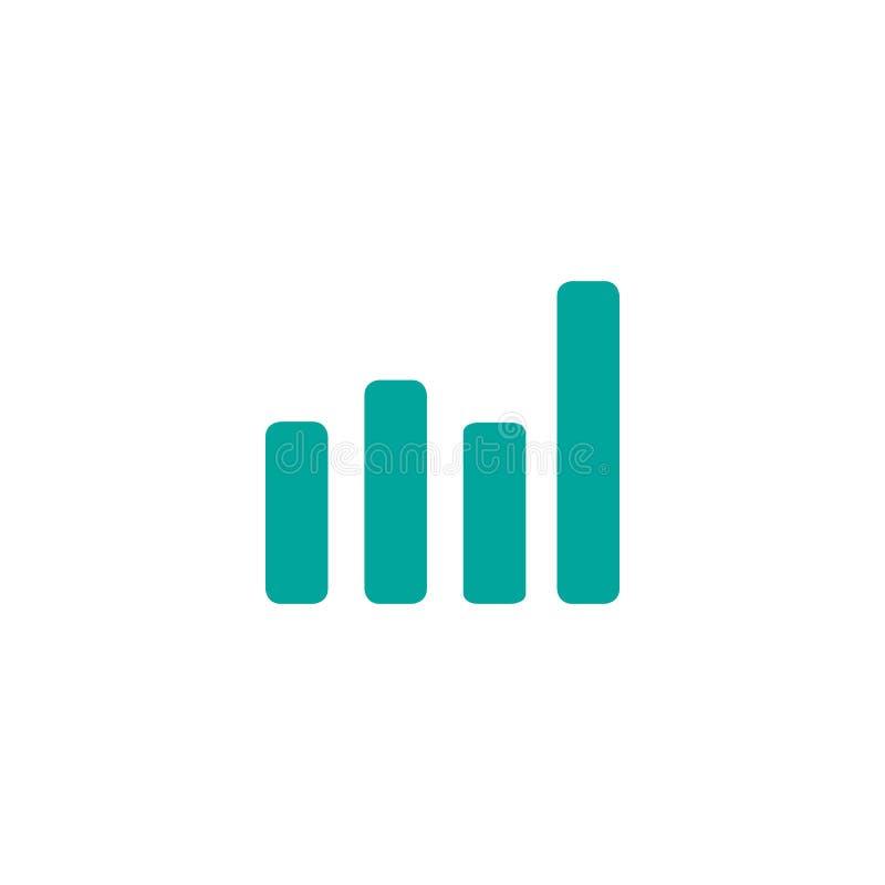 Rappresenti graficamente l'icona nello stile piano d'avanguardia isolata su fondo bianco Simbolo per la vostra progettazione del  illustrazione di stock